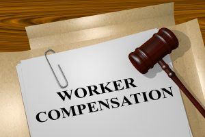 workers' compensation paper with judge's mallet